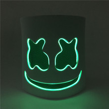 لتقوم بها بنفسك إيفا DJ LED مضيئة خوذة قناع تأثيري الدعامة هالوين قناع كامل الوجه تأثيري الدعامة هالوين أقنعة شريط حفلة