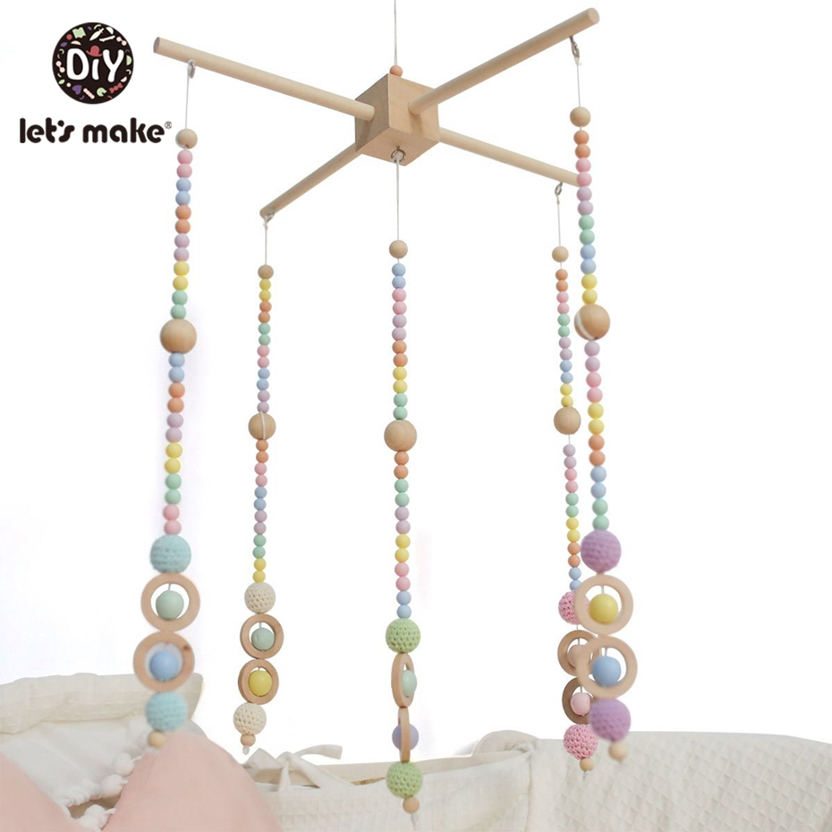 Let'S Make Baby Home Bedroom Play Gym Accessory Crib Mobile Hanging Bedding Baby Rattle Wooden Teether Toys Stroller Accessories | Happy Baby Mama