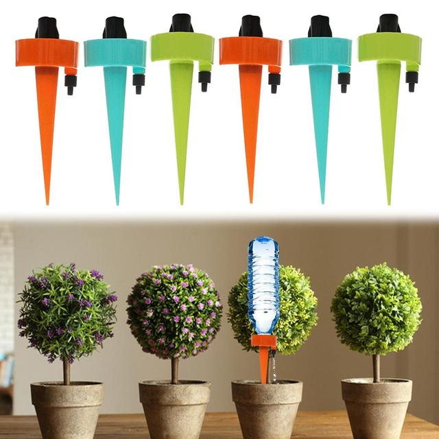 6/12PCS Automatic Watering Device Self Watering Spike Slow Watering System Irrigation Water Seepage Tool Outdoor Indoor Plants