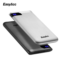 10000 Mah Power Bank Easyacc Portable Ultra Thin Polymer LCD Dual Output Type C Ports Powerbank