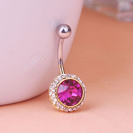Buy big blue colares rhinestone piercing for Types of body jewelry rings