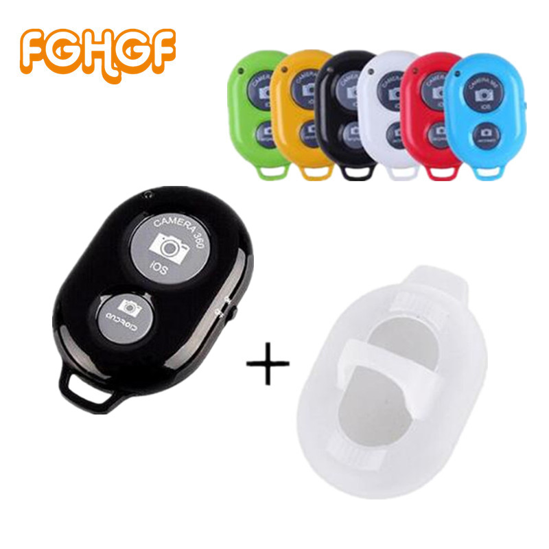 FGHGF Bluetooth Phone Self Timer Shutter Button for iPhone 7 selfie stick Shutter Release Wireless Remote Control for Huawei(China)
