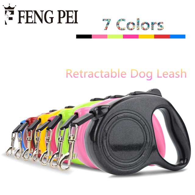 Pet Retractive Leash For Dogs 3m 5m Puppy One-handed Lock Walking Leads Training Adjustable Leashes Pet products For Dogs