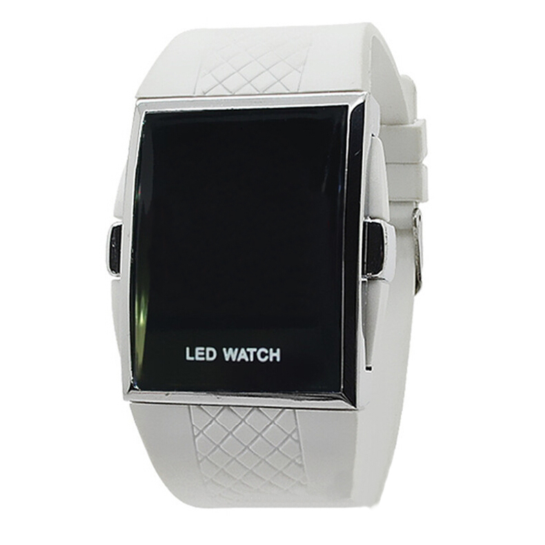 YCYS!new Led Digital Sport Strap Wristwatch For Ladies-All White