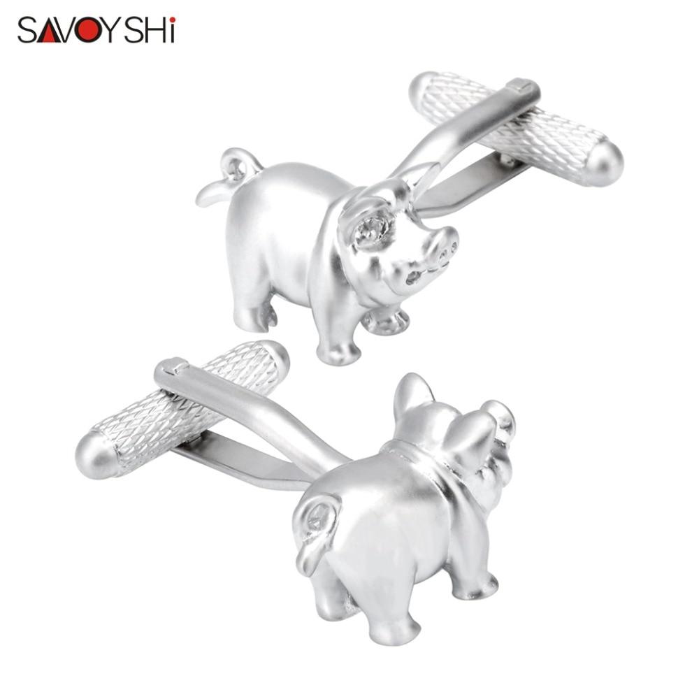 SAVOYSHI Personality Cute Pig Cufflinks For Mens High Quality French Shirt Metal Wedding Groom Cuff Links Brand Jewelry Gift