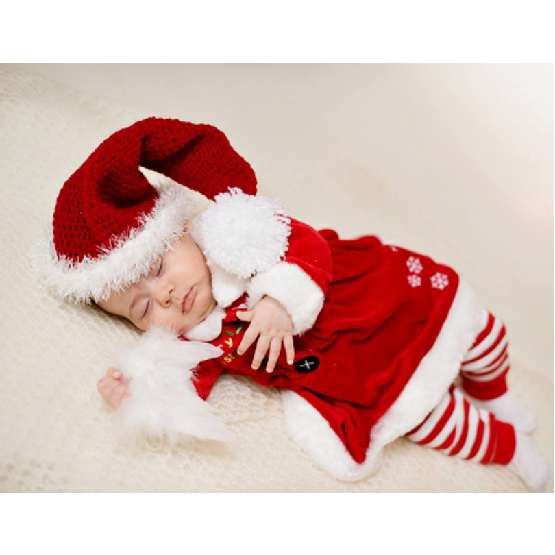 New Christmas Dress Baby Warm Boy Xmas Santa Party Winter Costume Clothes Child