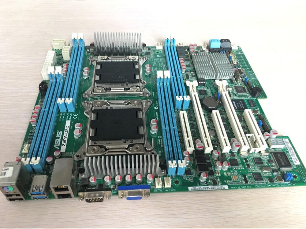original motherboard for ASUS Z9PA-D8C DDR3 LGA 2011 USB2.0 USB3.0 <font><b>C602</b></font> Chip 8 memory slots Desktop Server motherboard image