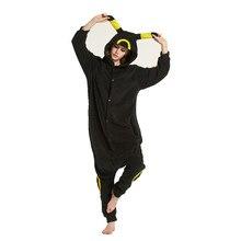 Adultos polar fleece Pokemon kigurumi amarillo umbreon unisex onesies  pijamas Cosplay traje para Halloween y Carnaval cc6f8255d8c6
