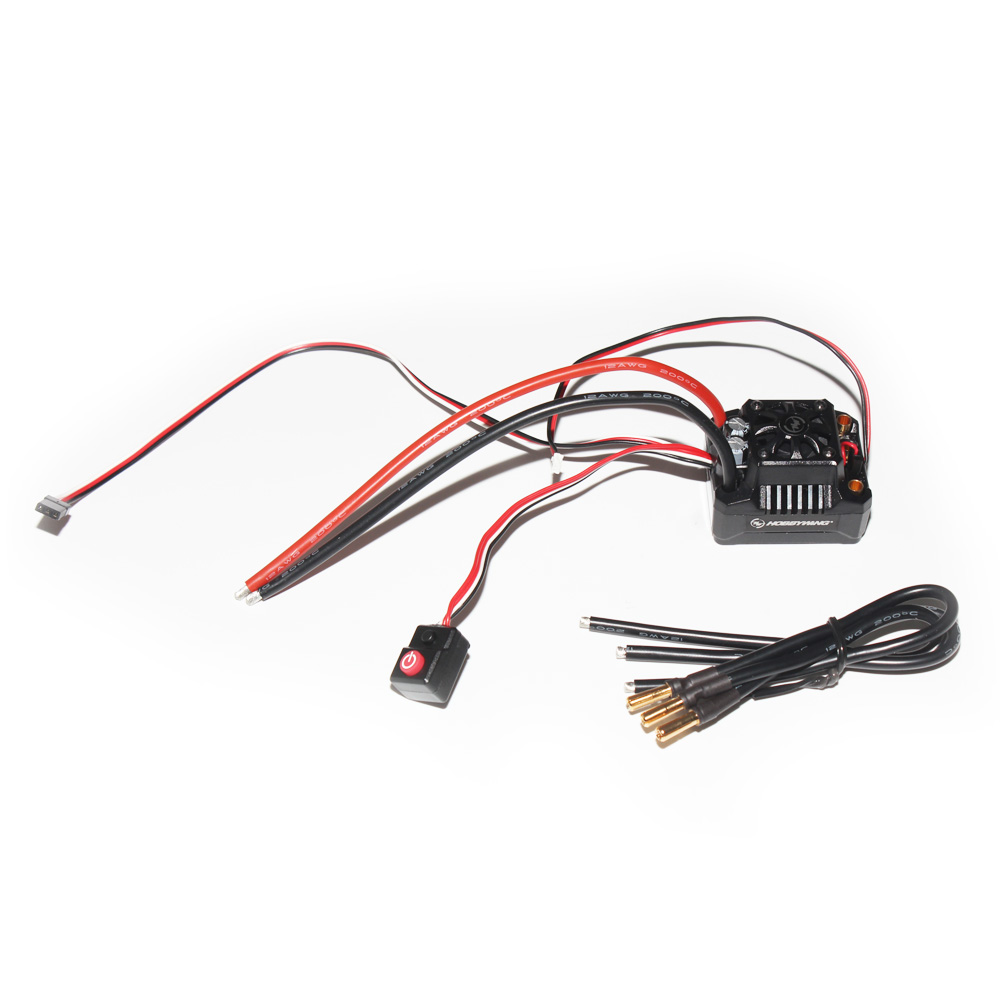 Hobbywing EZRUN MAX10 SCT BEC Waterproof 2-4S Speed Controller Brushless ESC for 1/10 RC Car Truck F17812 цена в Москве и Питере