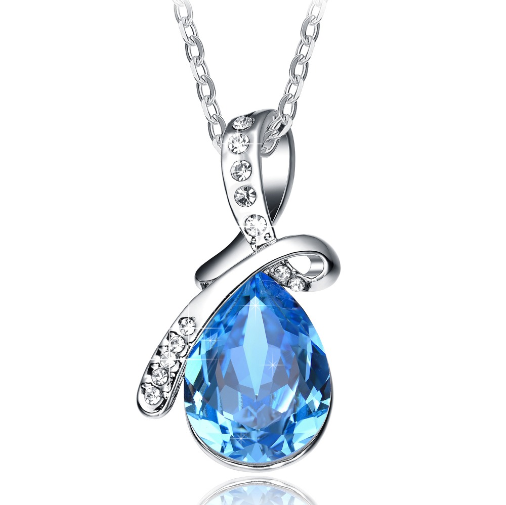 Valentines Day Gifts Neemoda Sapphire Blue Crystal Pendant