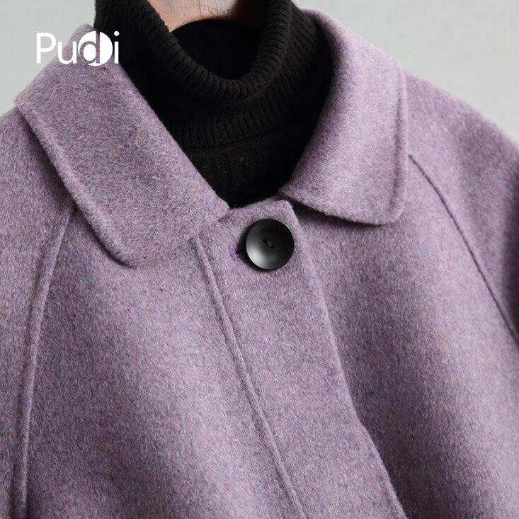 Fox Jacke Pudi Mantel Dame Neue Ro18006 Kragen Lange 2018 Tasche Frauen Herbst Wolle Stil 100 Winter Freizeit 80nNmw
