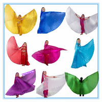 1pc Belly Dance Isis Wings Belly Dance Wings Bellydance Accessories 11 Colors For Children Kids Girls