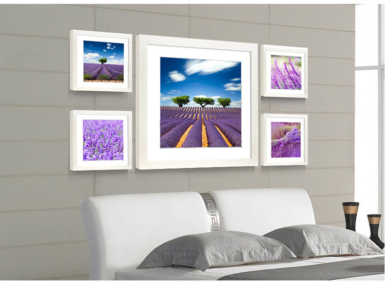 Modern Lavender Flower Wall Painting With Frame For Bedroom Hotel Canvas Home Decoration Picture Poster Card Free Shipping In Calligraphy From