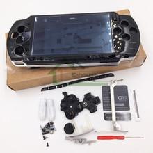 Capa de substituição para sony psp2000 psp 2000, cor preta, kit completo de botões