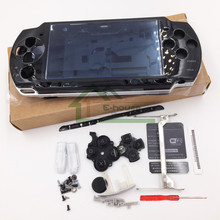 For Sony PSP2000 PSP 2000 Black Color Full Housing Case Complete Shell case Replacement with buttons kit