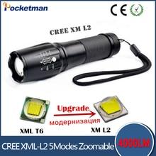 zk 50% off flashlight Lanterna de led High Power Torch 3800 lumen Zoomable mini LED Flashlight tatica light lantern bike light