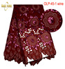 High Quality Nigerian Wedding African Lace Embroidery Organza Lace Fabric With Sequins For Party OLP 45