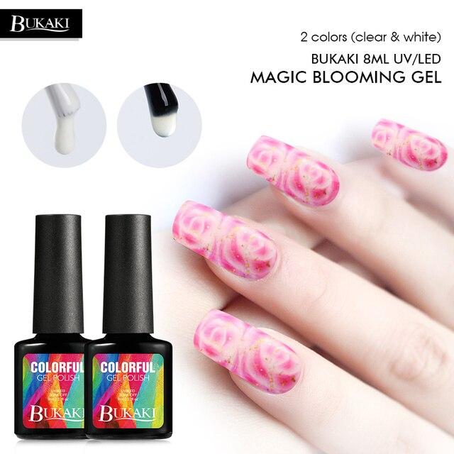 BUKAKI Blanc Clair Floraison Gel Vernis À Ongles Magie Blossom ...