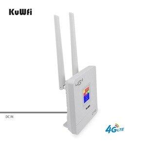 Image 5 - KuWfi 300 Мбит/с беспроводной CPE 4G LTE Wifi маршрутизатор ФЗД TDD LTE WCDMA GSM глобальная разблокировка внешние антенны слот для sim карты WAN/LAN порт