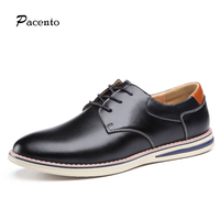 PACENTO 2017 Luxury Brand Shoes Mens High Quality Casual Fashion Breathable Flats Men Shoe Lace Up