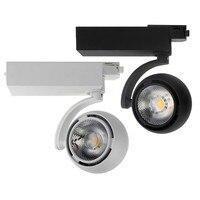 Thrisdar 25W Modern LED Track Spotlight 360+360 Adjustable Restaurant Clothe Shop Background LED Ceiling Rail Track Spotlight