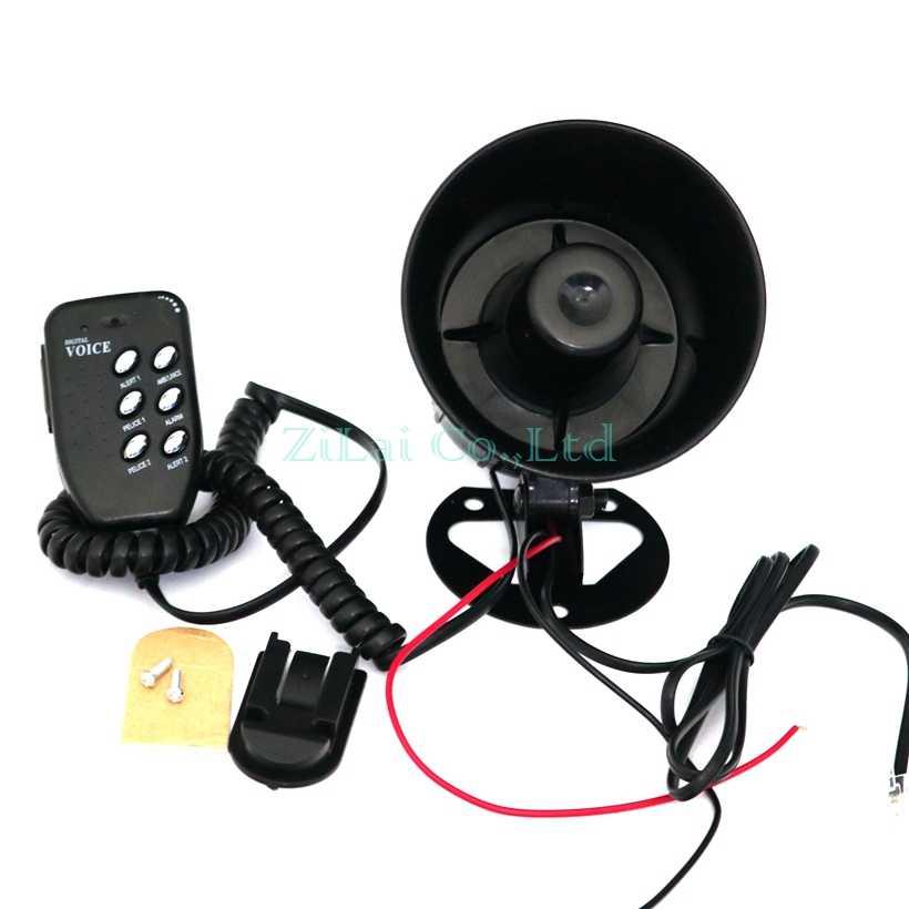 Motor Mobil Auto Keras Tanduk Udara 125dB Siren Pengeras Suara Megaphone Alarm Van Truk Perahu 50 W 12 V 6 -Nada Modifikasi Bagian
