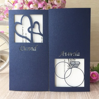 30Pcs/Lot Ring And Heart Pattern Wedding Invitation Card Romantic Decorative Cards Event&Party Supplies