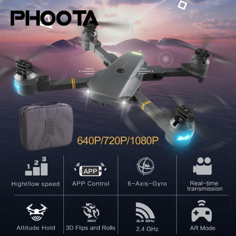 Phoota XT-1 Quadcopter 2,4 ghz 1080 p HD kamera 120 grad LED beleuchtung klapp UAV + erhalt paket Drone