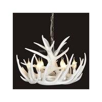 Vintage Lamp Artistic Rustic Antler Chandelier Lighting Suspension Luminaire Living Room Lights WHITE Color
