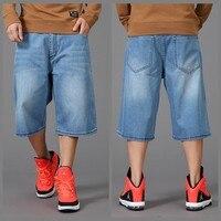 plus size 46 Military men Calf Length Pants men's short jeans casual short trousers multi pocket mens shorts hiphop men's jeans