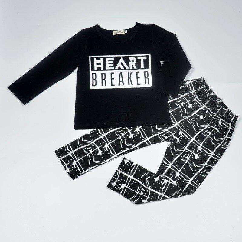 new0-24M 2Pcs/Set Children's Clothing Autumn Newborn Outfit Infant Baby Boys Girls Cotton Long Sleeve T-shirt + Pants