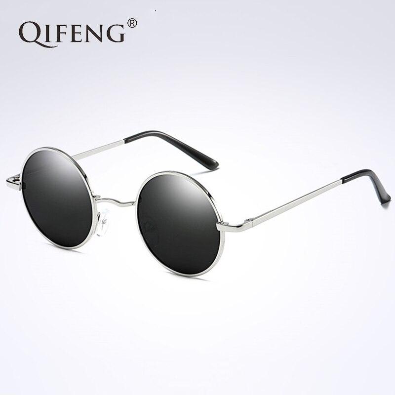 QIFENG Rodada Polarizada Óculos De Sol Das Mulheres Dos Homens Motorista  Óculos de Sol Do Vintage 798f6c8d5b