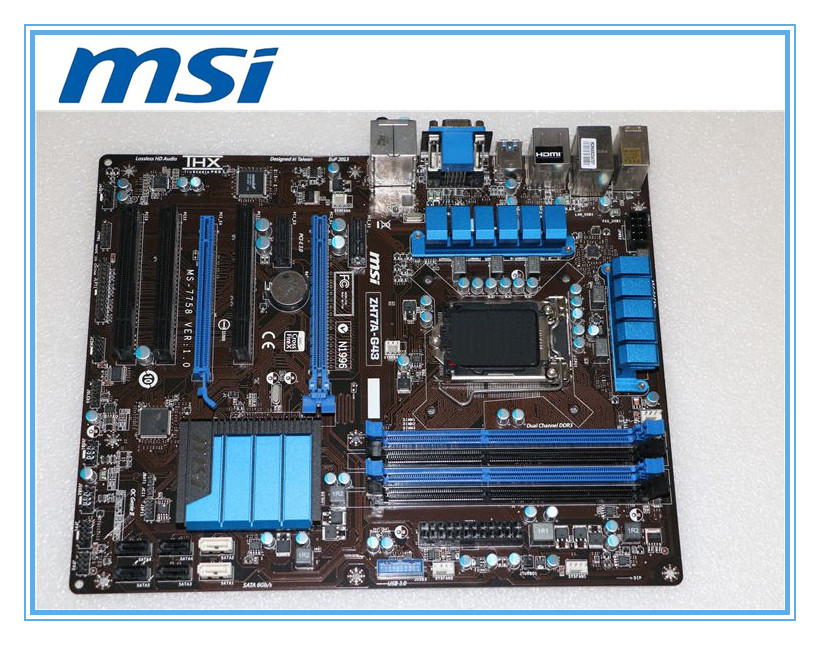 купить MSI original motherboard ZH77A-G43 LGA 1155 DDR3 for i3 i5 i7 cpu 32GB USB3.0 SATA3 H77 Desktop motherboard Free shipping онлайн