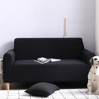 Cubierta de sofá 1/2/3/4 asientos elásticos universal sofá cubre color puro spandex sofá cubre Multicolor opcional envío gratis