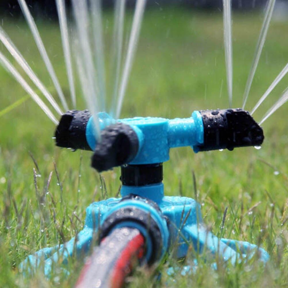 Garten Rotierenden Sprinkler 3-Arm Fitting Schlauch Outdoor Wasser Spray Streuen Garten Werkzeug TB Verkauf