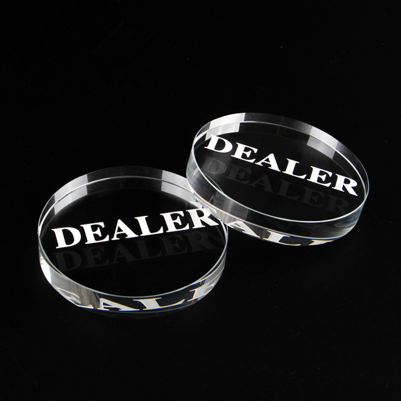 New Texas Holdem Crystal DEALER Poker Chips Poker Table Special Crystal Chip Matching Accessories Transparent DEALER Yernea in Poker Chips from Sports Entertainment