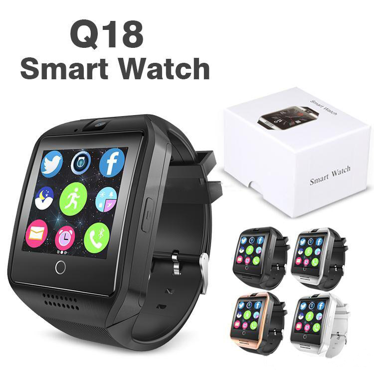 BY DHL 10pcs Bluetooth Smart Watch Q18 for Apple ios Android Smart Phone PK DZ09 GT08