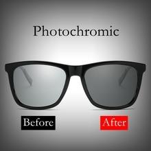 2018 New Design Photochromic Polarized Sunglasses Classic Transition Lens Sun Glasses Men Women Retro Discoloration Lenses