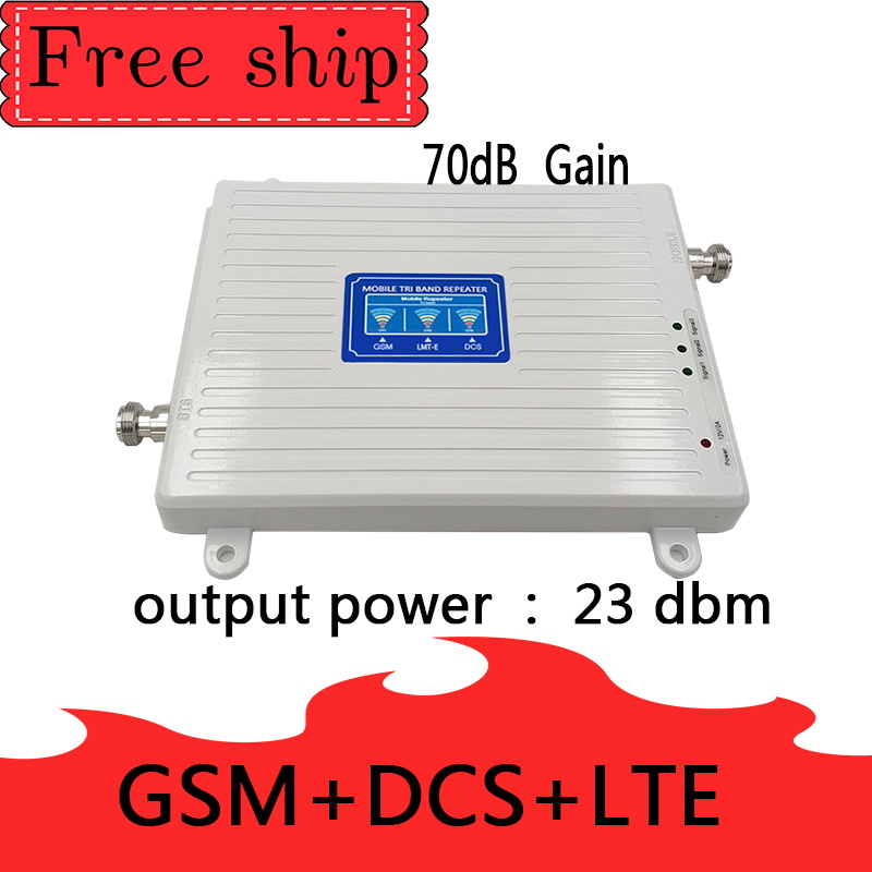 900/1800/2600 Mhz GSM  2G WCDMA 3G  LTE 4G Mobile Phone Repeater Cellular Signal Booster Amplifier 70db Gain