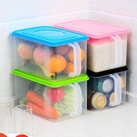 6L Cereals Food Storage Box Seaked Cans With Handle Miscellaneous Antibacterial Storage With Cover Refrigerator Storage