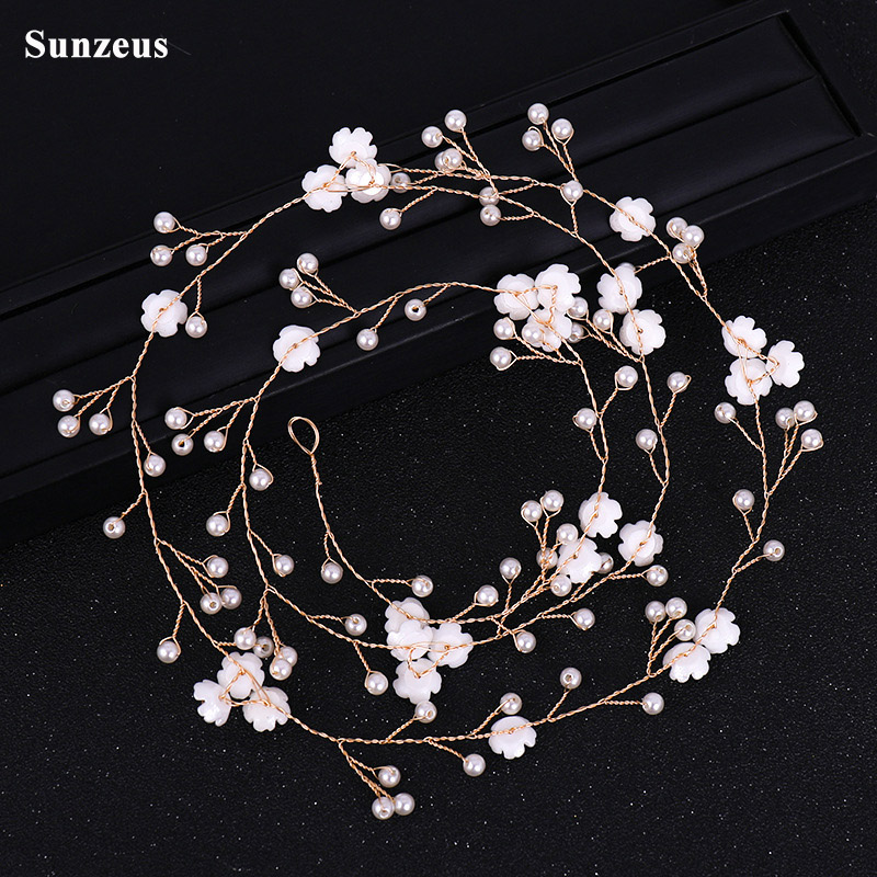 Weddings & Events Latest Collection Of Beaded Headband For Bridal Red Handmade Flowers Gold Crown Princess Hair Accessories Tiaras Wedding Accessories Sha65 Terrific Value