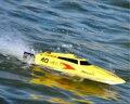 2016 de alta calidad de Alta Velocidad de 2.4G de 40-45 KM/H de Carreras RC Barco Eléctrico de Control remoto Lancha Rápida con Super motor sin escobillas