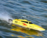 2016 high quality High Speed 2.4G 40 45KM/H Racing RC Boat Electric Remote Controlled Speedboat with Super Brushless motor