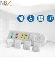 Newbealer 24 unids/1 Unidades Bebé Niño Eléctrica Toma de corriente Enchufe de Dos y Thredd Fase de Bloqueo de Seguridad Para de Seguridad para niños