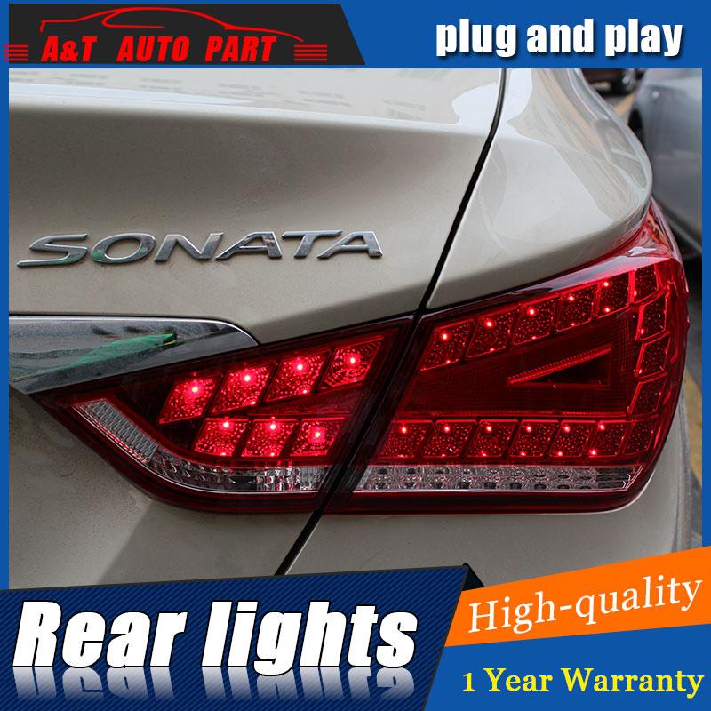AUTO.PRO 2011-2014 For Hyundai Sonata 8 taillights led car styling tail lamps Sonata 8 led rear lights led light guide parking hyundai ix55 3 8 пробегом