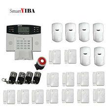 SmartYIBA 7 Wired 99 Wireless Zones GSM SMS Home Security Alarm System Burglar Alarm Russian French Spanish Italian Voice
