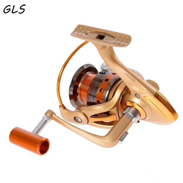 Cheap New Water 500-9000 Fishing Spinning Reel 12 BB Balls  Super Strong fishing reel Carp Fishing Spinner For metal fishing wheel