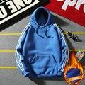 Hoodies Dos Homens de outono e Inverno nova Versão Coreana de Cabeça Espessamento Dos Homens Camisola Cor Pura Clássico Mens Treino 5XL jaqueta