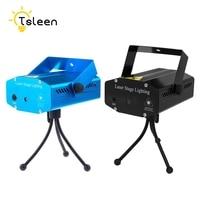TSLEEN Metal EU US DJ Red Green Laser LED Lamp 100V 240V 110V 220V Lumiere Mini