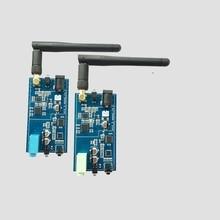 2.4G ISM HIFI اتجاهين لاسلكي ستيريو جهاز إرسال سمعي استقبال 16Bit 44KSPS 5Mbps محول نقل لمسافات طويلة
